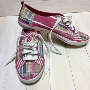 Coach Barrett Pink Plaid Pastel sneakers